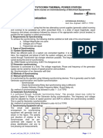 Generator Synchronization Writeup