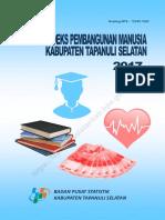 Indeks Pembangunan Manusia Kabupaten Tapanuli Selatan Tahun 2017