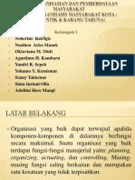 Pengorganisasian Dan Pemberdayaan Masyarakat Kelompok I