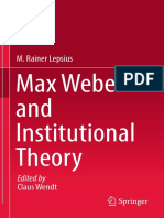 Max Weber and Institutional Theory