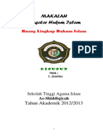 Makalah Pengantar Hukum Islam Tentang Ruang Lingkup Hukum Islam