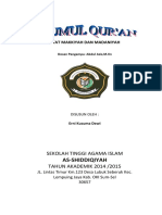 Makalah Ulumul Qur'an Tentang Makkiyah dan Madaniyah