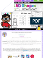 FREE Shapes Assessment