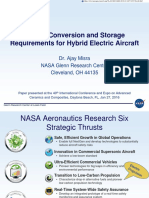 Conversion and storage requirement for hybrid aircraft