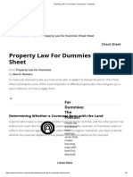 Property Law for Dummies Cheat Sheet - Dummies