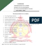 U.G Thesis Guidelines SMVEC