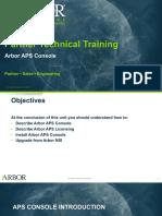 Arbor APS STT Unit Optional Console 25Jan2018