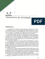 Texto 10 PSIQUIATRIA E SAUDE MENTAL Cap 13 Transtornos de Ansiedade