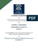 Training and Development Report