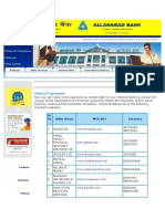 Allahabad Bank Online Payments Website List
