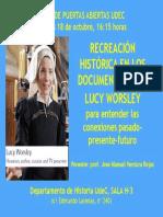 UdeC Recreación Lucy Worsley CARTEL
