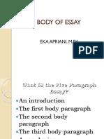 Body of Essay - Copy