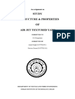 Study of Structure and Properties of Air Jet Textured Yarn