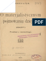 Greulich, Hermann O Materialistycznym Pojmowaniu Dziejów