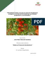 Fitosanitarios Residuo Cero Para El Control de Pseudomonas en Tomate (Tehuacatl)