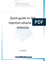 Quick Guide to SQL Injection Attacks and Defenses - English