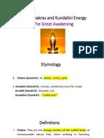 The Chakras and the Kundalini energy