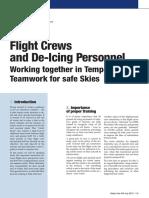 Flight Crews and de Icing Personnel