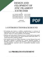 Development of filament extruder