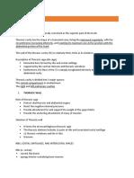 Thorax Summary Notes