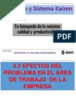 3.2 Efectos Del Problema en El Area de Trabajo de La Empresa