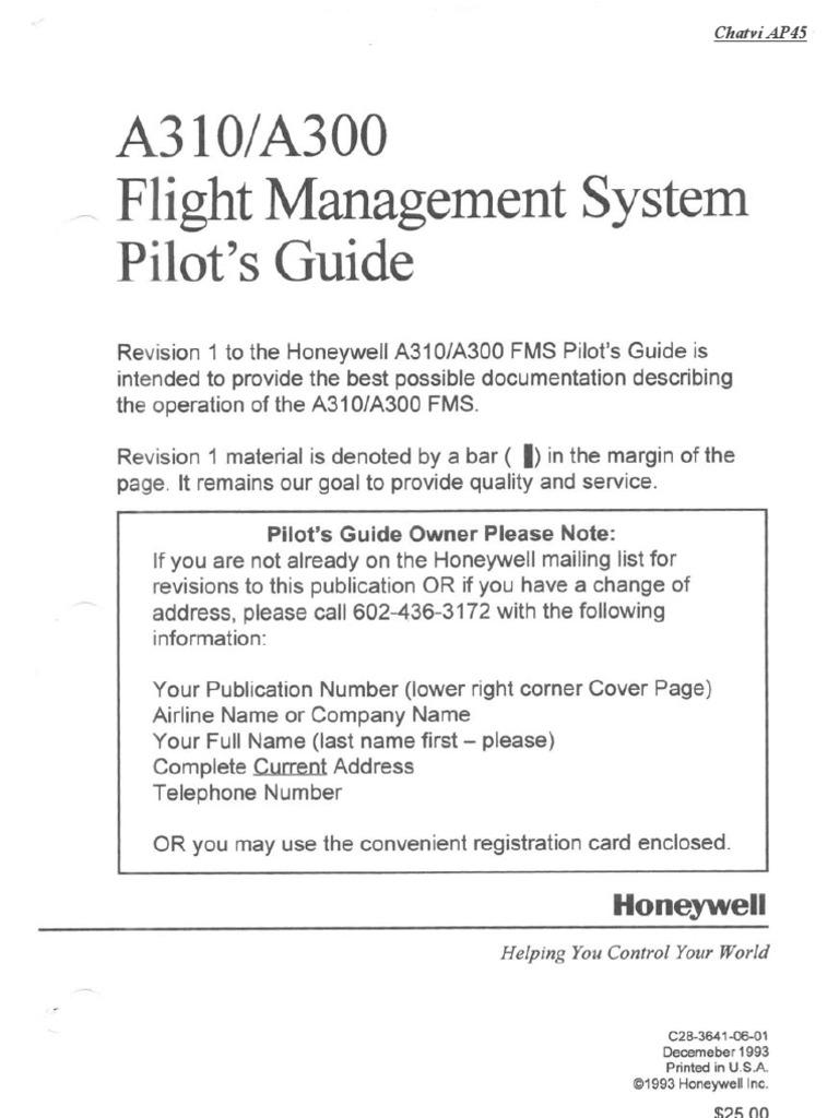 A300-600 FMS Pilot's Guide | Aerospace | Aerospace Engineering