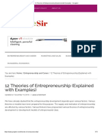 12 Theories of Entrepreneurship (Explained With Examples) - Googlesir