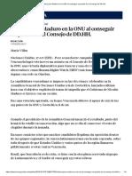 Victoria Para Maduro en ONU Al Conseguir Un Puesto en Consejo DD.hh., 17-10-19