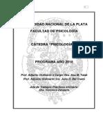 Programa 2018 - Psicología II