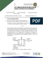 Modelamiento y Simulacion de Un Reactor de Tanque Agitado Continuio No Isotermico