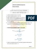 Ejercicios Geometría Primer Bloque