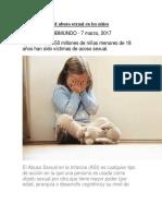 Cómo Detectar El Abuso Sexual en Los Niños Exposision
