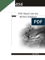 MSI P35 Neo2 Series Manual