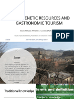 Tourism  gastronomy and traditional knowledge
