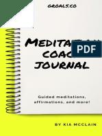 Groals Meditation Coach Journal