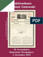 70 Gutowski Auktion 2019