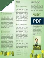Template Brochure In