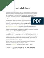 Definición de Stakeholders
