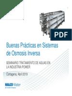 Buenas practicas de sistemas de osmosis inversa