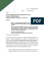 Fe - Carta Contra Opinion Legal Protransporte - Trato Directo