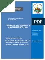 Plan de Equipamiento y Mantenimiento Hbt 2019