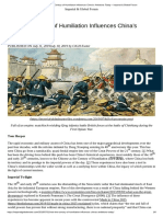 How the Century of Humiliation Influences China's AmbitionsToday – Imperial & Global Forum