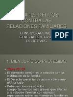 TEMA 12.- Delitos Contra Las Relaciones Familiares