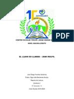 Reporte de Lectura. El Llano en Llamas.