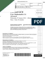 January 2012 QP - C4 Edexcel