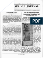 """Rapa Nui Journal Has the British Museum a """"Stolen Friend"""" From Rapa Nui? 5 4 Winter 1991"""