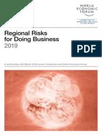 Regional Risks for Doing Business 2019