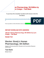 Brody's Human Pharmacology, 5th Edition by Lynn Crespo – Test Bank