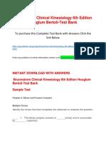 Brunnstrom Clinical Kinesiology 6th Edition Houglum Bertoti-Test Bank