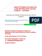 Business Analytics Principles Concepts and Applications With SAS What Why and How 1st Edition – Test Bank